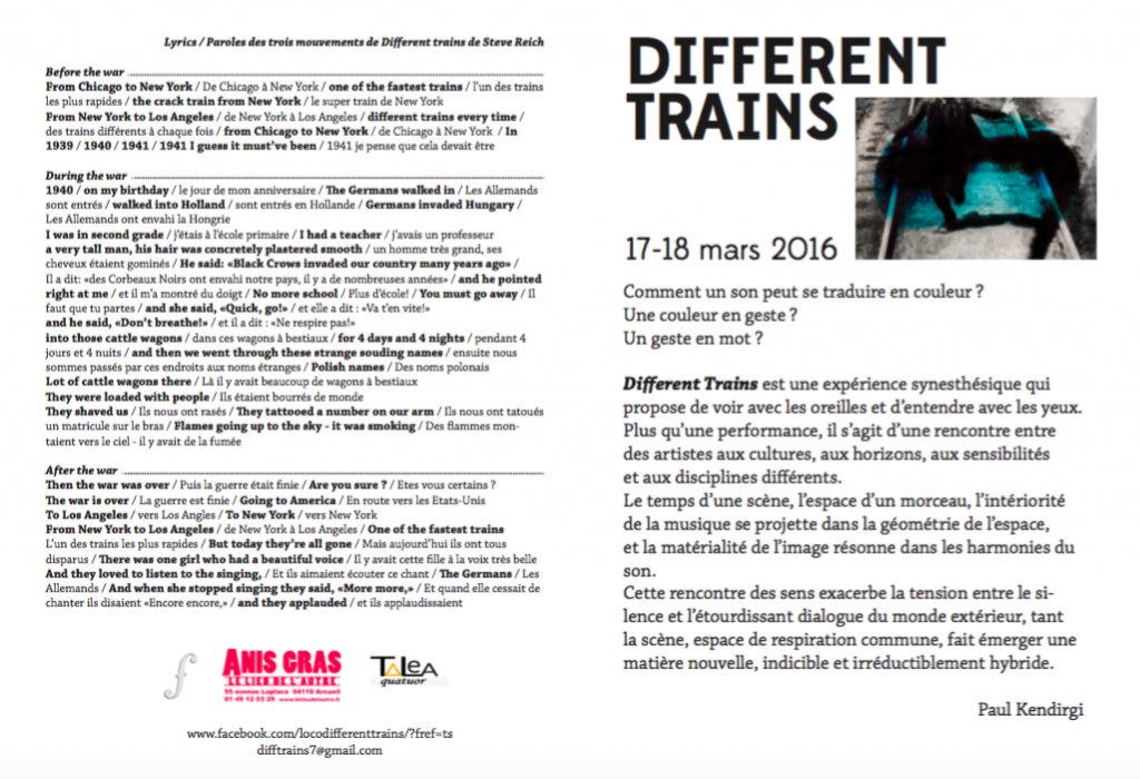 Programme Different Trains
