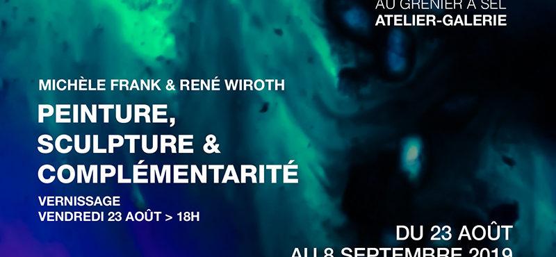 Exposition «Peinture, sculpture & complémentarité» de Michèle Frank et René Wiroth
